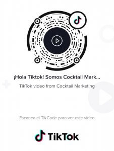 Síguenos en TikTok Cocktail Marketing