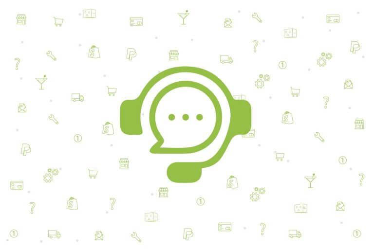 soporte y telefono shopify